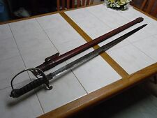 BRITISH ROYAL MARINE ARTILLERY OFFICERS SWORD, WW ONE, engraved, w/ research