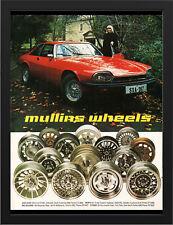 "1978 MULLINS WHEELS XJS JAGUAR AD A3 FRAMED PHOTOGRAPHIC PRINT 15.7""x11.8"""
