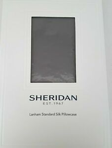 BNWT SHERIDAN Luxury Silk Pillowcase Flint Colour $129.95 RRP