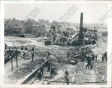 1944 East Anglia England Ammunition Train Exploded at the Station Press Photo
