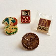 Vintage McDonalds Pins Lot Employees Team Crew Brooches Collectible Pins 1990's
