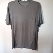Patagonia Men's Athletic Gray/Sliver Running Workout Polyester Shirt Sz Large