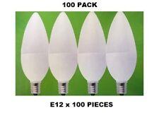 100 pcs. E12 Candelabra LED Light Bulbs Optolight Candle Bulb Soft White 3W, 25W