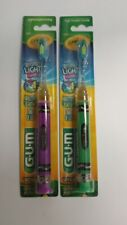 2/Pack - GUM Crayola Timer Light Toothbrush, Soft, Assorted Colors