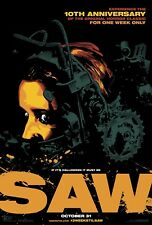 SAW 10th Anniversary 2014 Original Promo Mini Movie Poster Cary Elwes M Potter