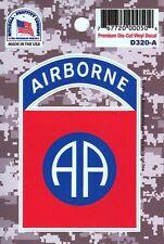 US ARMY 82ND AIRBORNE DIVISION PREMIUM DIE-CUT VINYL STICKER - DECAL!!!
