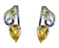 handsome Citrine 925 Sterling Silver Yellow genuine wholesale US gift