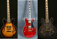 ZW-356 Semi Hollow Electric Guitar Flamed Maple Top Gold Hardware Rosewood