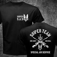 New British United Kingdom SAS Special Forces Sniper Team Military T-shirt