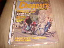 CHOPPERS Magazine march 1976,harley,triumph,honda choppers,springers,bobber