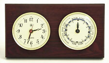 "WEATHER STATIONS - ""SOUTHAMPTON"" CLOCK AND TIDE CLOCK - MAHOGANY WOOD BASE"