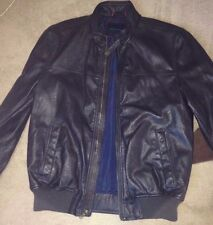 NWT $180 Tommy Hilfiger Men's Faux-Leather Bomber M