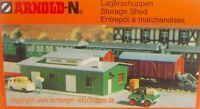 Rarität! N - Arnold 6430 kleiner Lager-Schuppen Bausatz Neu ohne Umverpackung.