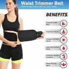 Waist Trimmer AB Belt Sweat Slimming Weight Loss Sauna Belly Wrap Fat Burner New