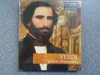 VERDI - OPERATIC MASTERPIECES - CD - BOOK CASE WITH BOOKLET (NEW SEALED)