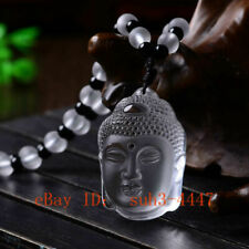 White Crystal Chinese Buddha Pendant Necklace Lucky Delicate Citrine Amulet Hot
