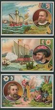 "6 Stück GERSPACHER-Sammelbilder: Serie 840 ""Berühmte Seefahrer""  auf Bogen."