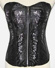 S Lolita Goth Gothic Rockabilly Gypsy Steam Punk Lace Up Boho Bustier Corset Top