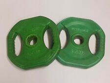 """1x Reebok RBK 2.5kg 5.5lbs Weight rubber Coated 2 handed circuit 1"""" free P&P"""