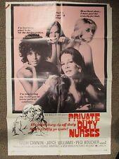 Vintage 1 sheet 27x41 Movie Poster Private Duty Nurse 1971 Kathy Cannon THRILLER