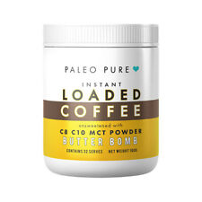 Paleo Pure Instant Loaded Coffee With C8 C10 MCT Powder Butter Bomb 160g