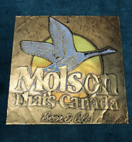 """Vintage Molson Canada Beer & Ale Goose Sign Tin Man Cave Advertising 13""""x13"""""""