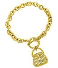 W Swarovski Crystal Purse Handbag Hand Bag Bracelet Gift Jewelry