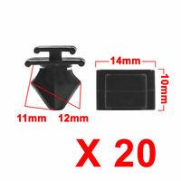 20pcs 12mm Hole Plastic Door Fender Bumper Push Rivets Clip Black for Car