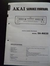 Original Service Manual  Akai  Digital Sound Processor EA-M830
