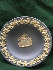 Vintage Small Decorative Blue Wedgewood Plate Jasper Ware