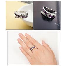 Damenring Kristall Strass Kreuz Schmetterling Fingerring Ring Geschenk