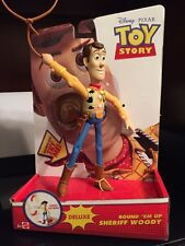 New Disney Toy Story Deluxe Round em up Sheriff Woody Lasso Action Figure