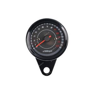 New Motorcycle Gauge Dual Odometer KMH Speedometer LED Backlight Signal
