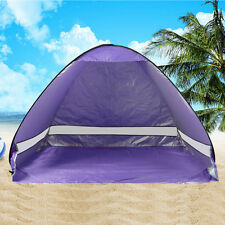 US 2-3 Person Portable Pop Up Beach Tent Anti-UV Sun Shade Cabin Outdoor Camping