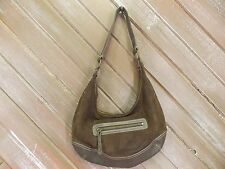 Eddie Bauer Purse Genuine Cow Leather Suede Hand Bag Hobo