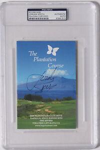 Jordan Spieth Hand Signed Plantation Course Scorecard  PSA