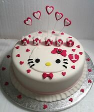 Hello Kitty  Cake Topper- Any Name - Any Colour - Birthday - Christening