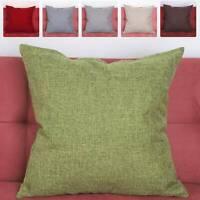 "Colorful Plain Dyed Cushion Cover 100% Cotton Home Decor Sofa Size "" 20"" UK New"