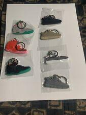 Choice Of Nike Air Or Adidas Yeezy 2 & 350 V1 Platinum Keychain Rubber Multi