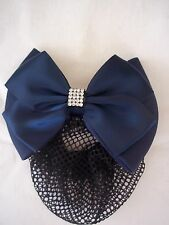 Équitation cristal Dressage Bow et cheveux Net-bleu marine-par EQUETECH