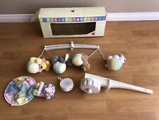 Vintage Dakin CIRCUS Musical Mobile Baby Nursery Crib Rail Brahms' Lullaby 1988