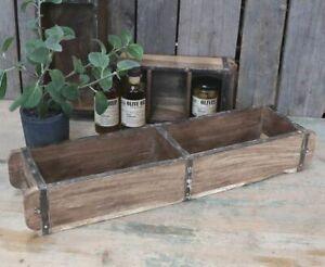Wooden Double Brick Mould Original India Bathroom Storage Industrial Crate Decor