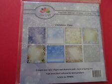 New Dixi Craft 15cm x 15cm Paper Pad Christmas Time