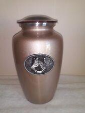 520 Mocha Western Vase Adult Funeral Memorial Cremation Urn- FREE Plate