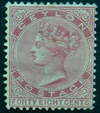 Ceylon 1872 48c SG 130 Unused no gum cat £120