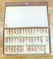 Glass Vials With Assorted Watch Parts - Screws, Gears, etc... (K4096)