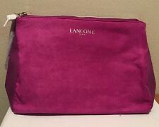 LANCOME Signature Cosmetic Bag FAUX Suede in PINK GWP 0316B New
