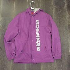 Supreme Vertical Logo Coaches Jacket Purple Sz. M Med Bogo Box Logo