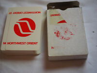 Vintage NORTHWEST ORIENT AIRLINES PLAYING CARDS in original box