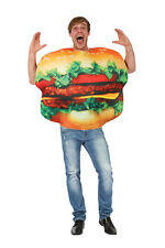 Adult Burger In A Bun Fancy Dress Costume Stag Do Outfit - One Size